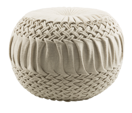 Wool Smocked Pouf
