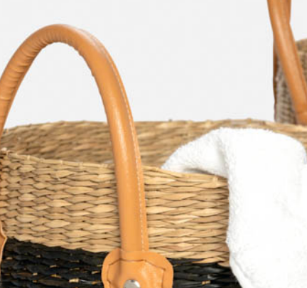 Hudson Seagrass Baskets - Set of 3