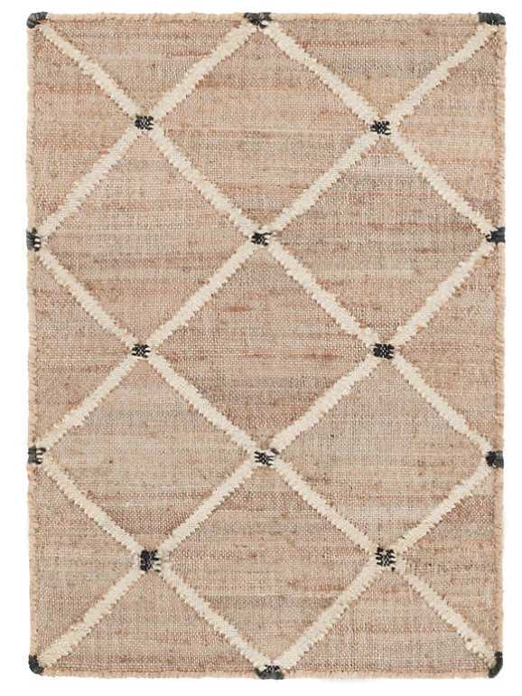 Lattice Woven Jute Rug