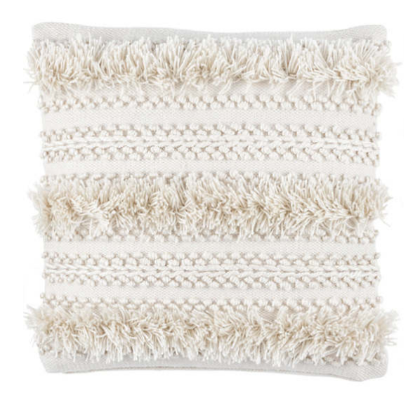 Fringed Indoor/Outdoor Pillow
