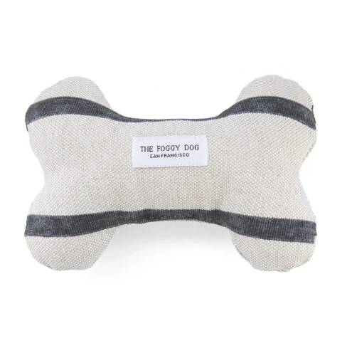 Farmhouse Stripe Dog Bone Toy