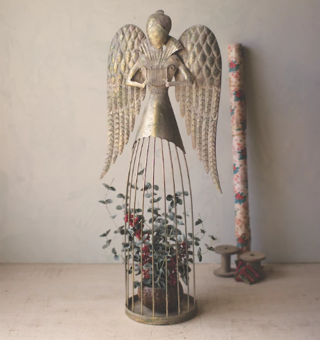 Tall Metal Angel Decor