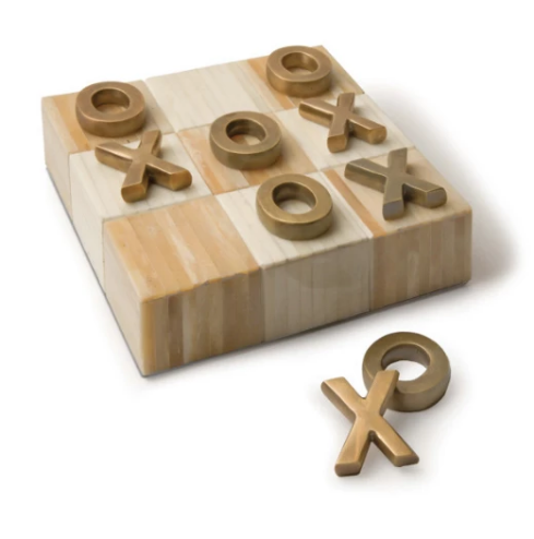 Natural Bone Tic Tac Toe Board