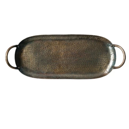 Hammered Metal Tray