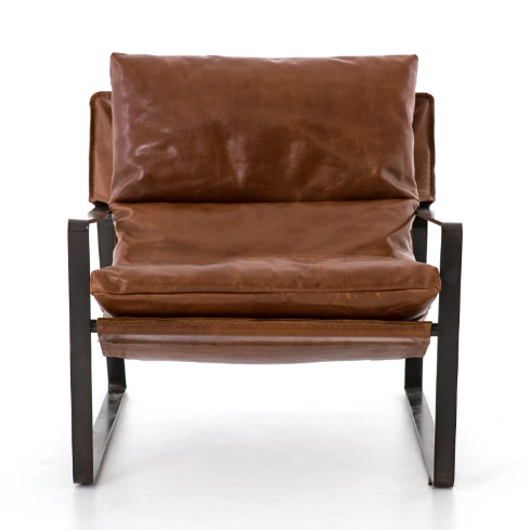 Emmitt Leather Sling Chair