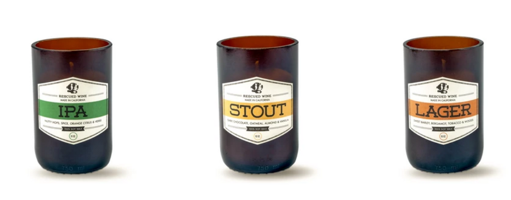 Rescued Wine Craft Beer Candle Collection
