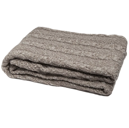 Heathered Chunky Cable Knit Throw