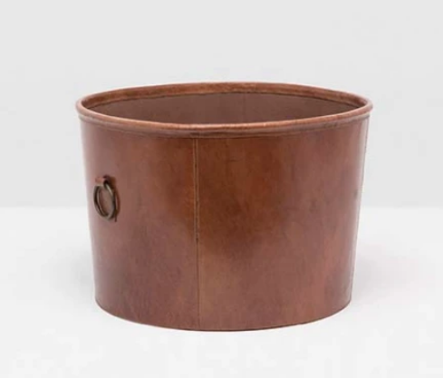 Leather Basket