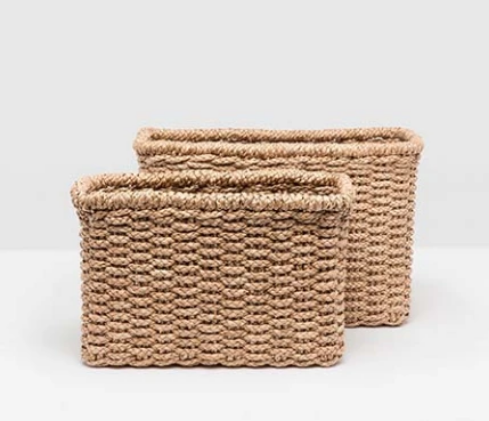 Braided Seagrass Baskets - Set of 2