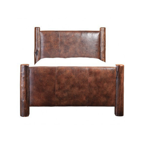 Taos Leather Bed