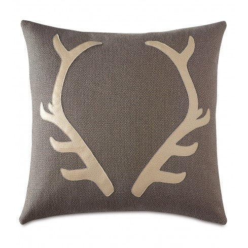 Antler Appliqué Pillow