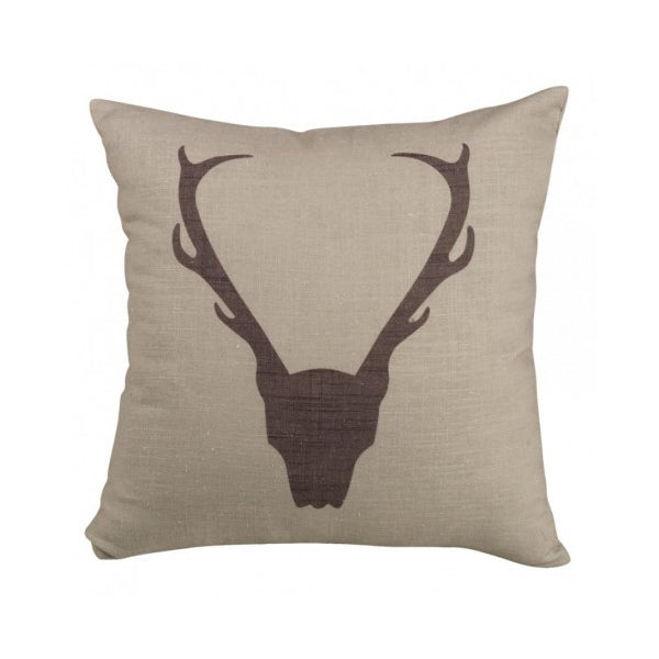 Antler Printed Pillow