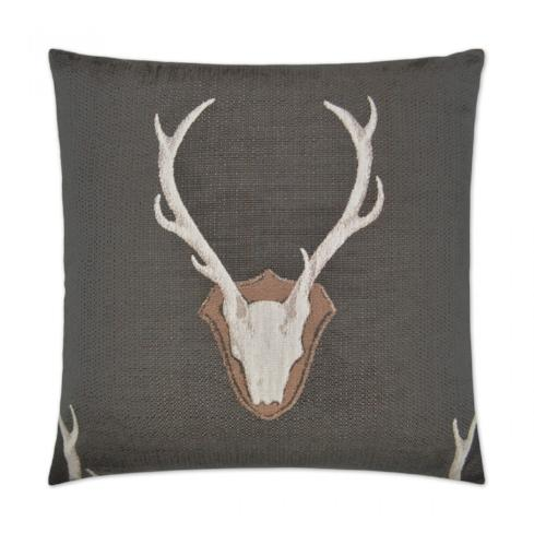 Buck Embroidered Pillow