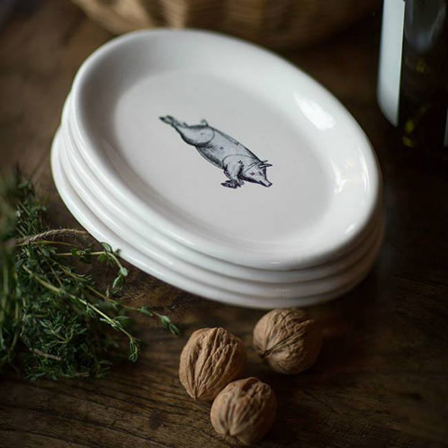 Illustrated Pig Plates