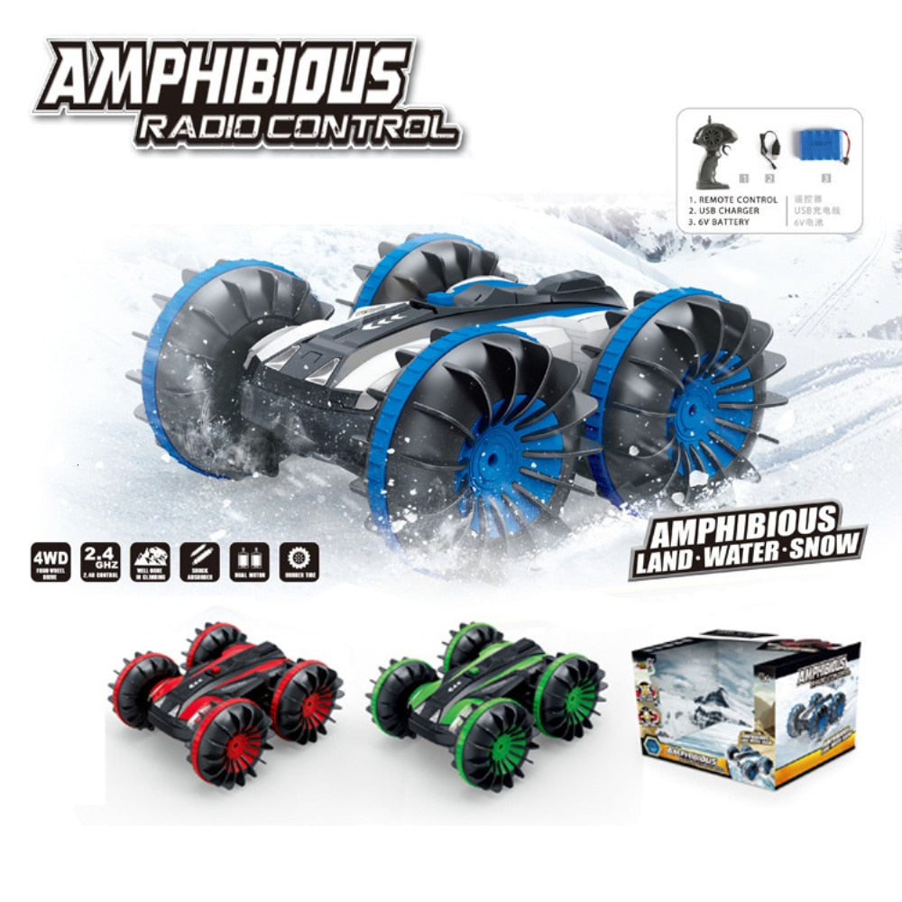 Double Sided Amphibious Remote Control Car