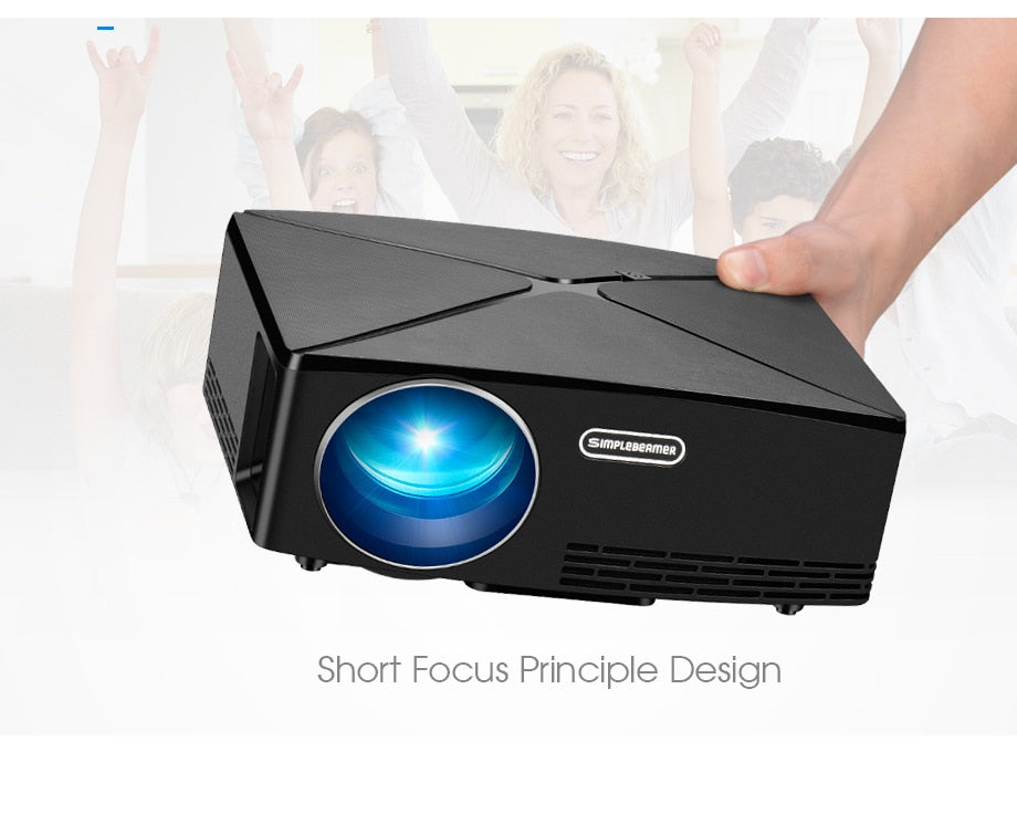 AUN Mini Projector C80 UP Ultra Crisp HD 1280x720