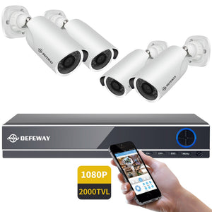 DEFEWAY 1080P Home Security Camera (Set of 4)