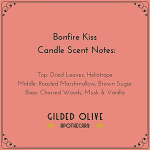 Bonfire Kiss Candle Scent Notes