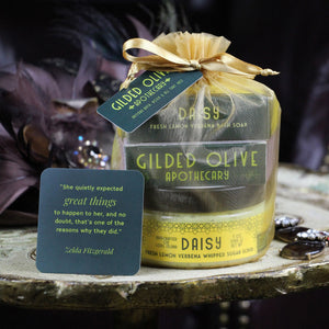 Lemon Soap & Sugar Scrub Gift Set | Gilded Olive Apothecary