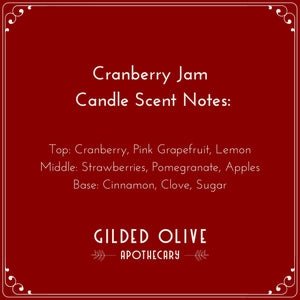 Cranberry Soy Candle | Gilded Olive Apothecary
