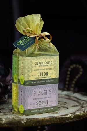 4 Pack Soap Gift Set | Meet The Flappers - Gilded Olive Apothecary