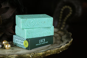 Gilded Olive Apothecary Lucy Mint Loofah Soap