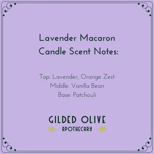 Lavender Macaron Candle Scent Notes
