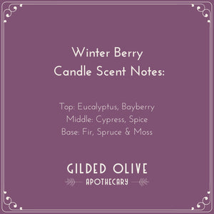 Winter Berry Candle Scent Notes