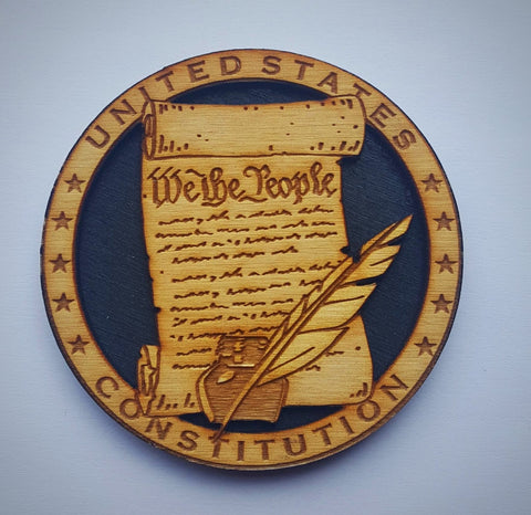 Constitution Wooden Magnet