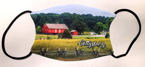 Red barn Gettysburg face mask