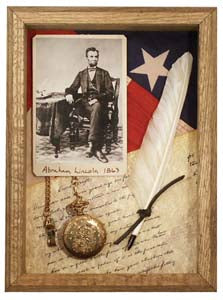 Abraham Lincoln Civil War Shadow Box