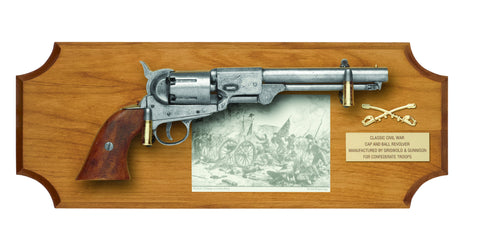 Gettysburg Deluxe frame set revolver and plaque