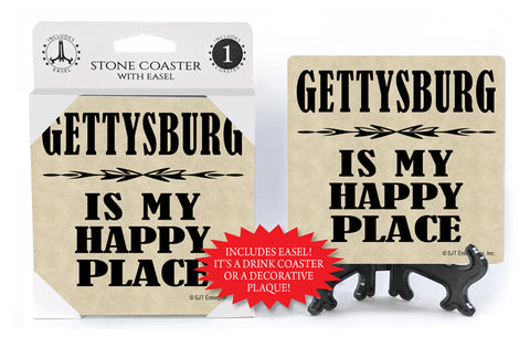 Gettysburg Is My Happy Place Coaster