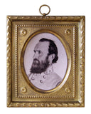 framed stonewall jackson portrait