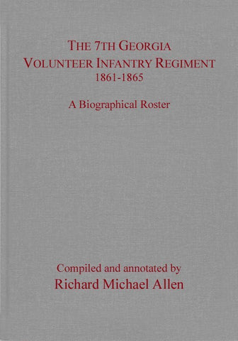 Allen's Georgia Infantry Roster set (4-volumes)