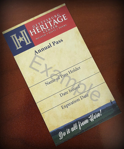 Annual Pass for Gettysburg Heritage Center