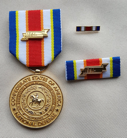 Confederate National Defense Medal Set