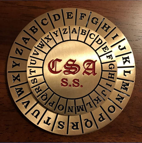 CSA Cipher disc, spy disc