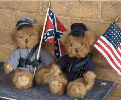 Soldier Bears with Flags