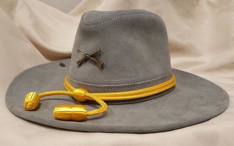 Confederate suede officers hat