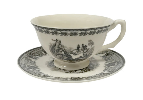 equestrian cup and saucer set