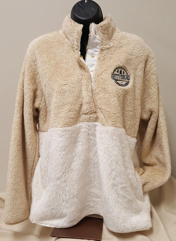 Fuzzy Fleece Pullover with Snaps
