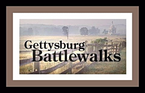 Johnson and Slocum on Culp's Hill battlewalk pcn