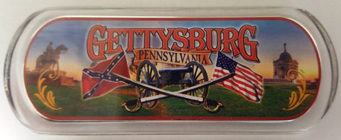 Gettysburg Magnet with Cannon & Flags