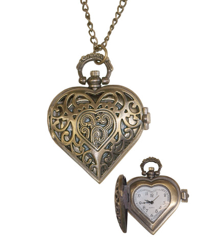 Heart Shaped Watch Necklace