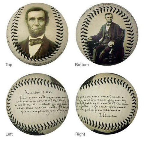 Lincoln Gettysburg Address Baseball