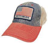 Navy and red american flag hat