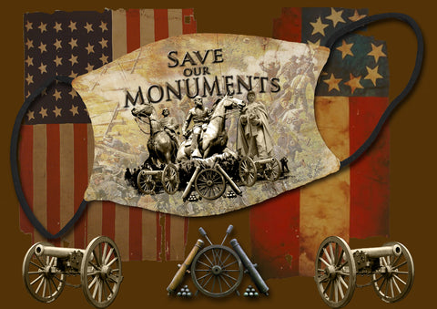 save our monuments face mask