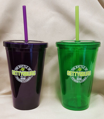 Gettysburg Tumbler Cup with Straw