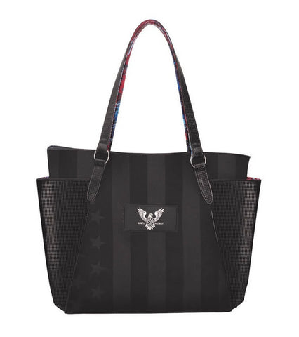 subtle patriot carryall tote bag